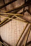 Achtergrond met gouden frames Stock Afbeeldingen