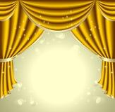 Achtergrond met gouden gordijn Royalty-vrije Stock Afbeelding