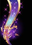 Achtergrond met gouden ornament Stock Afbeelding