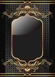 Achtergrond met gouden ornament Stock Foto's
