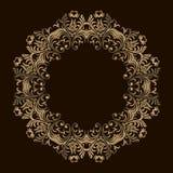 Achtergrond met gouden ornamentmandala Voor huwelijksuitnodiging, boekdekking of vlieger Rond ontwerpelement Kan voor wallpape wo Vector Illustratie