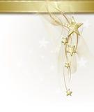 Achtergrond met gouden sterren Royalty-vrije Stock Foto's