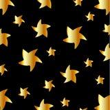 Achtergrond met gouden sterren Royalty-vrije Stock Afbeeldingen