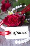 Achtergrond met Gracias Royalty-vrije Stock Foto