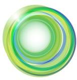 Achtergrond met groene cirkels Stock Afbeelding