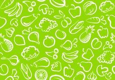 Achtergrond met groenten en fruit Stock Foto