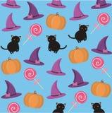 Achtergrond met Halloween-attributen vector illustratie