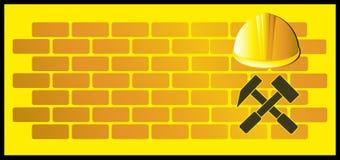 Achtergrond met hamer en helm vector illustratie