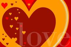 Achtergrond met harten en liefde royalty-vrije illustratie
