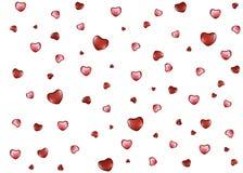 Achtergrond met harten op de Dag van Valentine Stock Fotografie