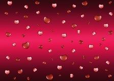 Achtergrond met harten op de Dag van Valentine Stock Afbeeldingen