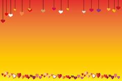 De kaart van de liefde Royalty-vrije Stock Afbeeldingen