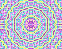 Achtergrond met helder kleurrijk concentrisch patroon Stock Foto's
