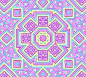 Achtergrond met helder kleurrijk concentrisch patroon Stock Afbeelding