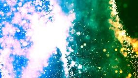 Achtergrond met het aardige groenachtig blauwe abstracte 3D teruggeven Stock Afbeelding