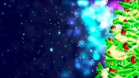 Achtergrond met het aardige Kerstmisboom 3D teruggeven Royalty-vrije Stock Afbeelding
