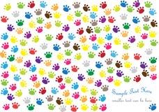 Achtergrond met het af:drukken van de kattenpoot stock illustratie