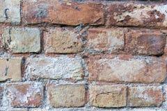 Achtergrond met het beeld van een bakstenen muur, buitenkant, plattelander stock foto