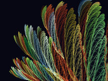 Achtergrond met het beeld van multi-colored bladeren Vector Illustratie