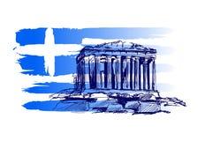 Achtergrond met het motief van Griekenland Stock Afbeeldingen