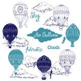 Achtergrond met hete luchtballons Royalty-vrije Stock Afbeelding