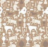 Achtergrond met hondsilhouetten Royalty-vrije Stock Foto