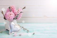 Achtergrond met hyacinten Stock Afbeeldingen