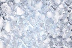 Achtergrond met ijsblokjes, hoogste mening Royalty-vrije Stock Afbeelding