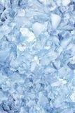 Achtergrond met ijsblokjes, hoogste mening Stock Afbeeldingen