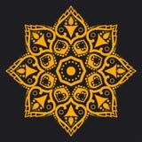 Achtergrond met Indisch ornament Mandala Royalty-vrije Stock Foto's
