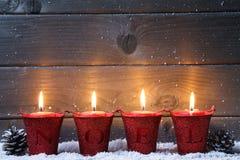 Achtergrond met kaarsen Stock Foto