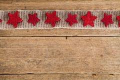 Achtergrond met kader van rode sterren Royalty-vrije Stock Foto