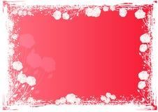 Achtergrond met kader van rozen royalty-vrije illustratie