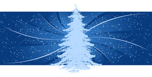 Achtergrond met Kerstboom Stock Afbeeldingen