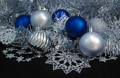 Achtergrond met Kerstmisballen Royalty-vrije Stock Afbeelding