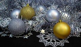 Achtergrond met Kerstmisballen Stock Afbeelding