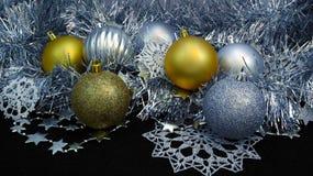 Achtergrond met Kerstmisballen Royalty-vrije Stock Fotografie