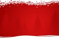 Achtergrond met Kerstmisbomen Stock Fotografie
