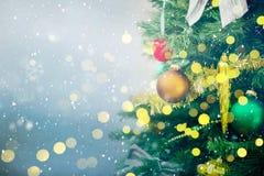 Achtergrond met Kerstmisboom Royalty-vrije Stock Foto