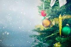 Achtergrond met Kerstmisboom Stock Fotografie