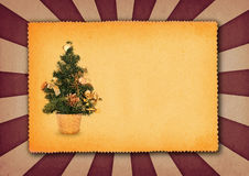 Achtergrond met Kerstmisboom Stock Foto