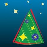 Achtergrond met Kerstmisboom Royalty-vrije Stock Fotografie