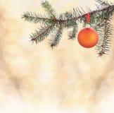 Achtergrond met Kerstmisdecoratie Stock Afbeeldingen