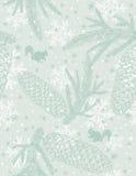 Achtergrond met Kerstmiselementen, vector Royalty-vrije Stock Afbeelding
