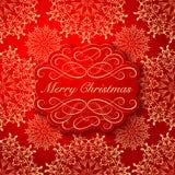 Achtergrond met Kerstmisetiket De kaart van de groet Royalty-vrije Stock Fotografie