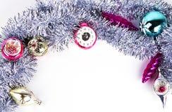 Achtergrond met Kerstmisstuk speelgoed Royalty-vrije Stock Foto