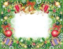 Achtergrond met Kerstmissymbolen Stock Foto's