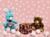 Achtergrond met kinderen` s speelgoed Royalty-vrije Stock Afbeelding