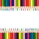 Achtergrond met kleurenpotloden Stock Afbeelding
