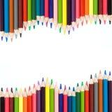 Achtergrond met kleurenpotloden Royalty-vrije Stock Foto